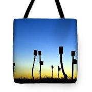 Marsh Birdhouses Tote Bag