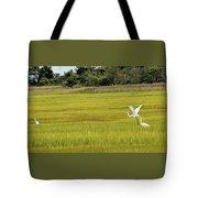 Marsh Egrets Tote Bag