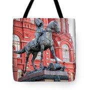 Marshal Georgy Konstantinovich Zhukov Statue Tote Bag