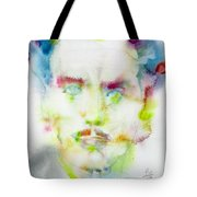 Marshall Mcluhan - Watercolor Portrait Tote Bag
