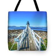 Marshall Point Light Station Tote Bag