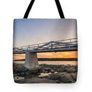 Marshall Point Light Sunset Tote Bag