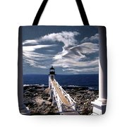 Marshall Point Lighthouse Maine Tote Bag by Skip Willits