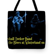 Marshall Tucker Winterland 1975 #18 Enhanced In Blue With Text Tote Bag