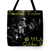 Marshall Tucker Winterland 1975 #3 Crop 2 With Text Tote Bag