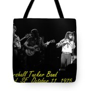 Marshall Tucker Winterland 1975 #37 Crop 2 With Text Tote Bag