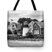 Hyannis Lighthouse Bw Tote Bag