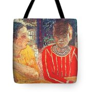 marthe in red blouse c1928 Pierre Bonnard Tote Bag