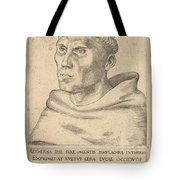 Martin Luther As An Augustinian Monk Tote Bag
