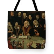 Martin Luther In The Circle Of Reformers Tote Bag