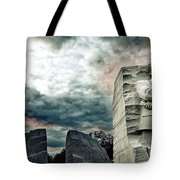 Martin Luther King Memorial At Sunset Tote Bag