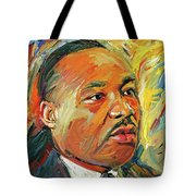 Martin Luther King Portrait 1 Tote Bag