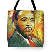 Martin Luther King Portrait 2 Tote Bag