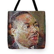 Martin Luther King Portrait Mosaic 1 Tote Bag