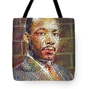 Martin Luther King Portrait Mosaic 2 Tote Bag