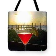 Martini At Sunset II Tote Bag