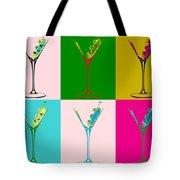Martini Pop Art Panels Tote Bag