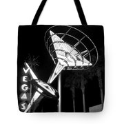 Martini Sign In Vegas B-w Tote Bag