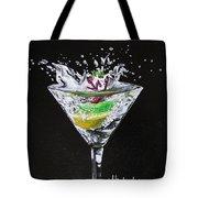 Martini Splash Tote Bag