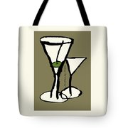 Martini With Green Background Tote Bag