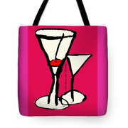 Martini With Pink Background Tote Bag