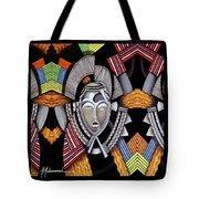 Maruvian Silver Mask Tote Bag