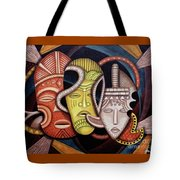Maruvian Society Masks Tote Bag