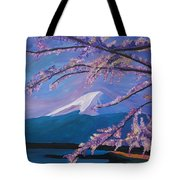 Marvellous Mount Fuji With Cherry Blossom In Japan Tote Bag