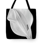 Marvelous Calla Lily In Black And White Tote Bag