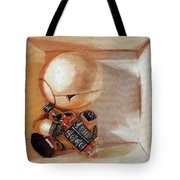 Marvin, Paranoid Android In A Box Tote Bag