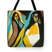 Mary And Josephine Tote Bag