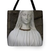 Mary Statue At Sacred Heart In Tampa Tote Bag
