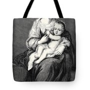 Mary With The Child Jesus Tote Bag