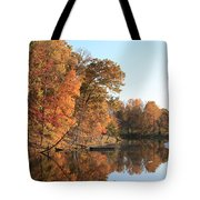 Maryland Autumns - Clopper Lake - Kingfisher Overlook Tote Bag