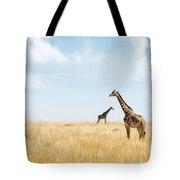 Masai Giraffe In Kenya Plains Tote Bag