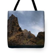 Masca Valley Entrance Panorama Tote Bag