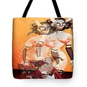 Mask-03 Tote Bag by Theda Tammas