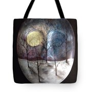 Mask Of The Moon Tote Bag