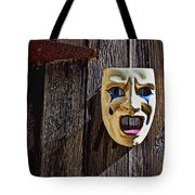 Mask On Barn Door Tote Bag