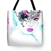 Masked Beauty Tote Bag