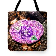 Mason's Purple Flower Tote Bag