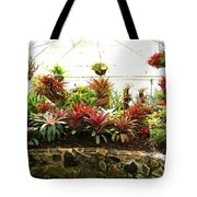 Massed Bromeliad In Hothouse Tote Bag