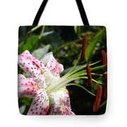 Master Gardeners Art Floral Pink Lily Flower Baslee Troutman Tote Bag