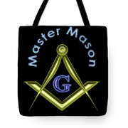 Master Mason In Black Tote Bag