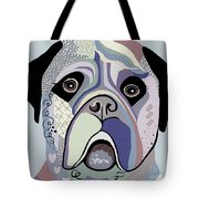 Mastiff In Denim Colors Tote Bag