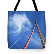 Masts And Clouds Tote Bag