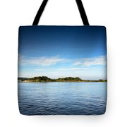 Blue River Inlet  Tote Bag by Claire Turner