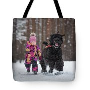 Matching Pompoms Tote Bag