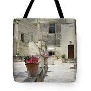 Matera With Flowers Tote Bag