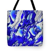 Material Evidence In Blue And White Tote Bag
